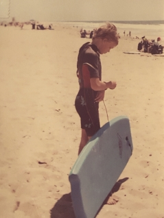 My other brother boogie-boarding in Huntington Beach circa 2001-ish