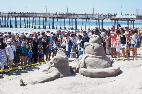 This is the type of crowd you should expect, even when there's no sand castle competition