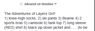 layers girl caption