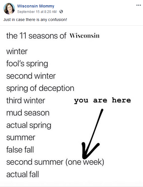 wisconsin mommy seasons